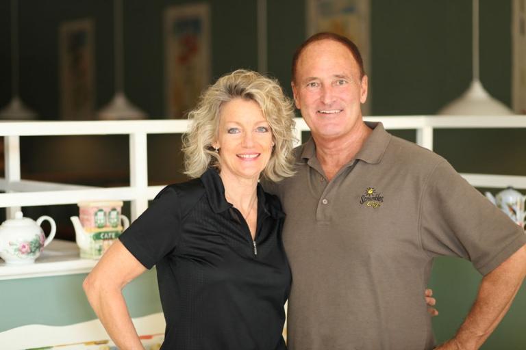 Owners of Scrambles Restaurant, Ocala, Florida