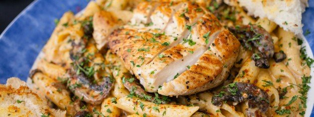 Orleans Pasta with Grilled Chicken: Recipe Courtesy of Thyme Fly's Bistro