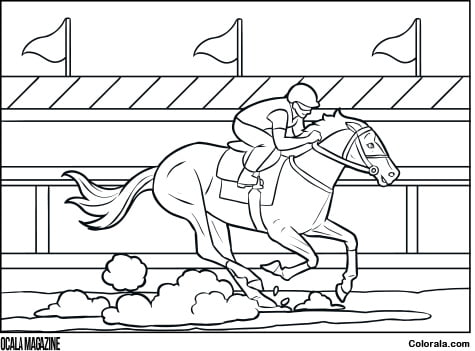thoroughbred coloring pages - photo#30