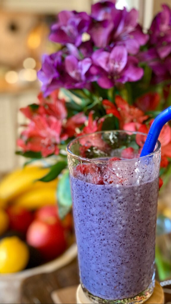 For the Heath Conscience Mom Blueberry Smoothie