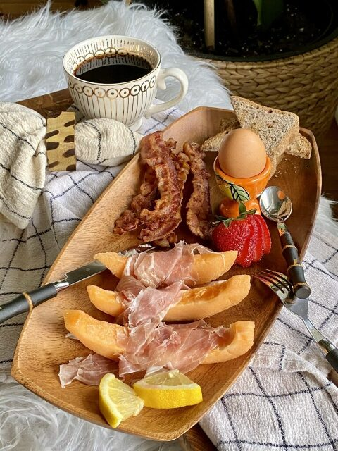 For the meat lovers prosciutto and melon, crispy maple wood-smoked bacon